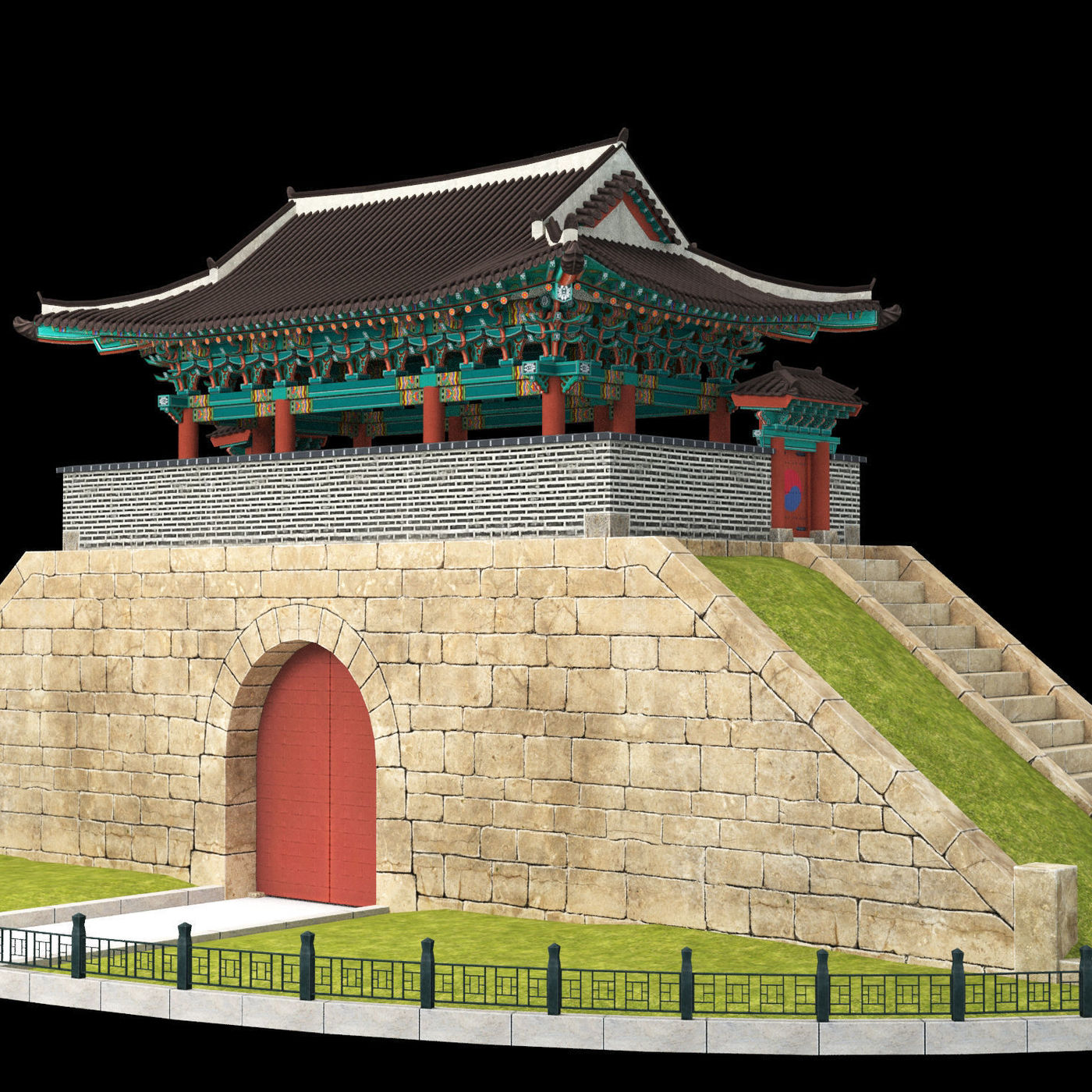 Modeling Korean traditional building