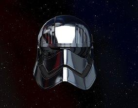 8 Captain Phasma helmet 3d printable