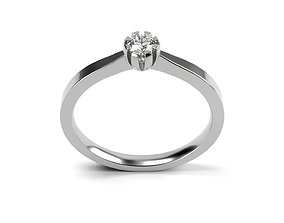 Engagement ring 25 ALL SIZES 3D printable model