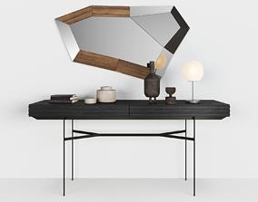Harri console by MORE - Trixy mirror by OZZIO - 3D model 1