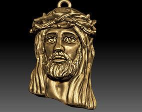 free 3D print model Jesus pendant