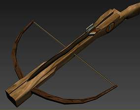 3D Medieval Crossbow rigged