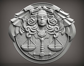 Themis goddess of justice bas-relief for 3d print