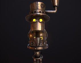 3D asset Steampunk Coffie Machine