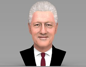 Bill Clinton bust ready for full color 3D printing