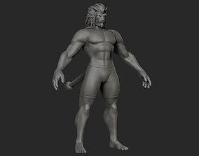 3D Stylized Cat Humanoid Base Mesh