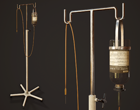 Hospital Drip Stand - PBR Game Ready 3D model