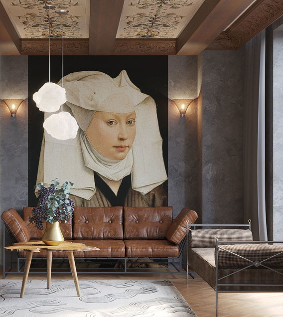 Living room with a portrait