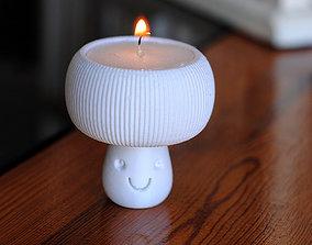 Mushroom tealight holder 3D print model