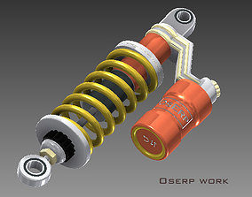 3D model Motorcycle rear Suspension