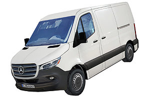 realtime Mercedes Benz Sprinter L1 2020 panel van low poly