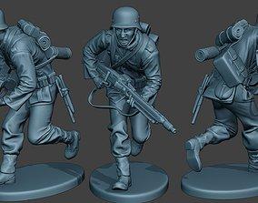 3D print model German soldier ww2 MG42 Run G7