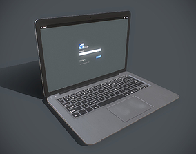Laptop 3D model game-ready