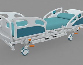 Hospital Bed Medical 3D model animated