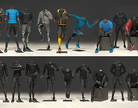 3D Man mannequin Nike FULL PACK