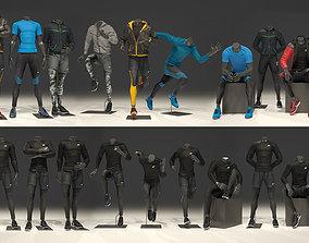 3D Man mannequin Nike FULL PACK
