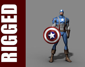 3D model Captain America Rig