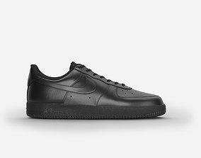 Nike air force 1 black 3D