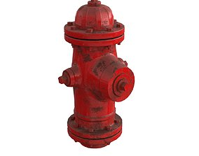 city 3D model Fire Hydrant
