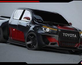 Toyota Hilux pickup body Kit 3D asset