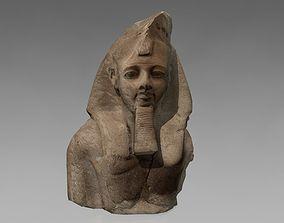 Egyptian stone bust 3D model