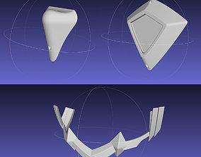 3D print model Kill La Kill Junketsu Armor Spine Back 2