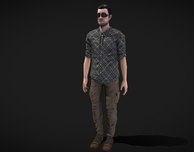 Male Character Animated 3D model