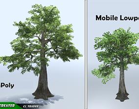 Kapok Tree Mobile Low Poly 3d model low-poly