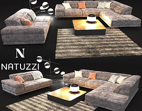 3D model Sofa in modern style NATUZZI Preludio 2782