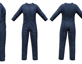 Mens Multiprofession Work Jumpsuit Uniform 3D model