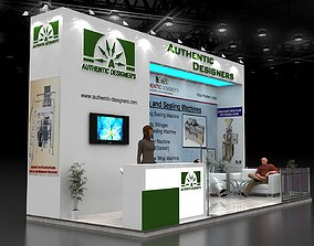 Exhibition Stall size 7x3Mtr Three Side Open 3D