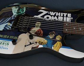 3D Kirk Hammett - ESP White Zombie Guitar