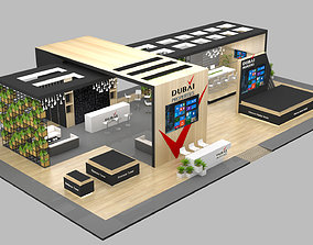 Exhibition Stand Booth 23x13m 3D