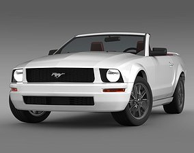 Ford Mustang Convertible 2005 3D model