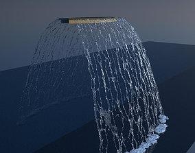 3D Concave Rainblade Realflow Scene