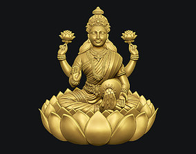 3D printable model Goddess Laxmi Bas relief