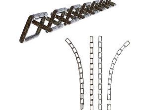 Plane Square Chain with PBR RustMetal BONUS 3D asset
