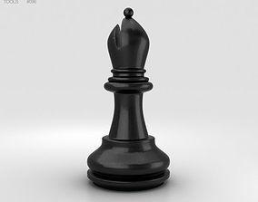 Classic Chess Bishop Black 3D model