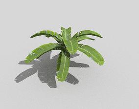 low poly tropical foliage 3D model VR / AR ready