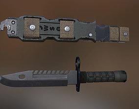 M9 Bayonet Knife Pack 3D asset