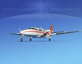 Beechcraft B99 Prince Edward Air 3D model