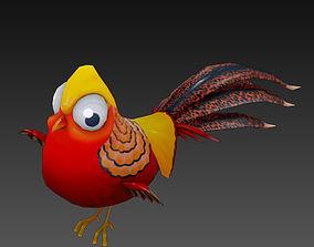 3D asset Golden pheasant