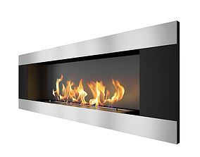 Modern indoor fireplace2 3D