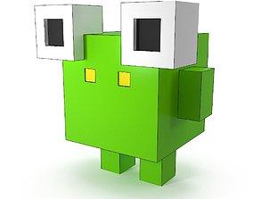 Voxel frog 3D asset
