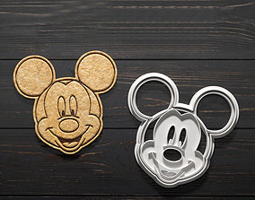 Mickey Mouse cookie cutter set of 4 3D printable model