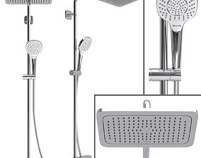 Shower System Hansgrohe Croma E Showerpipe 280 3D model