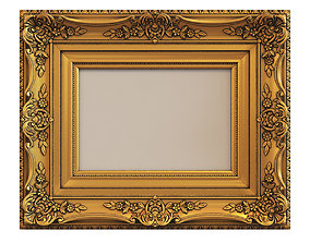 3D Frame picture gold v9
