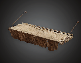 Dungeon Cot - MVL - PBR Game Ready 3D model