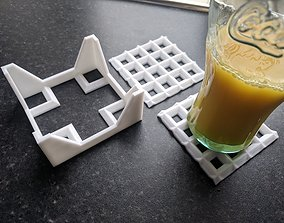 Stackable Ridged Coasters 3D print model