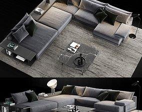 Poliform Bristol Sofa 3 3D